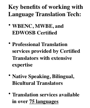 language translation tech translation services agency points of interest